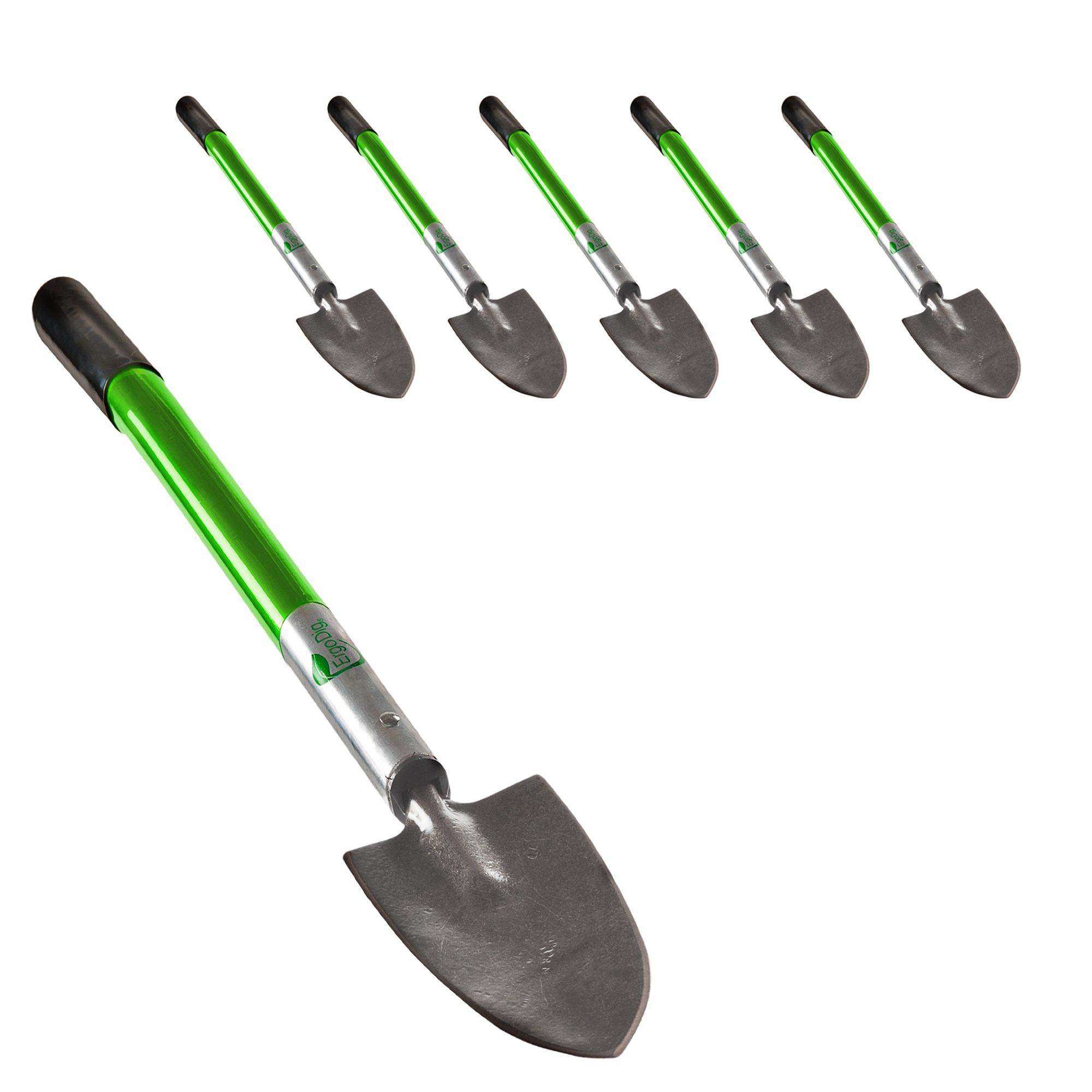 ErgoDig EP6D15007AL Lightweight Aluminum Garden Trowel with Ergonomic Handle and Soft Finger Grip, 18-Inch