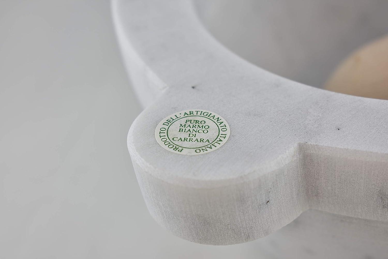 Sch/üssel Modell /∅ 15,5 cm Bembo M/örser in wei/ßem Carrara Marmor