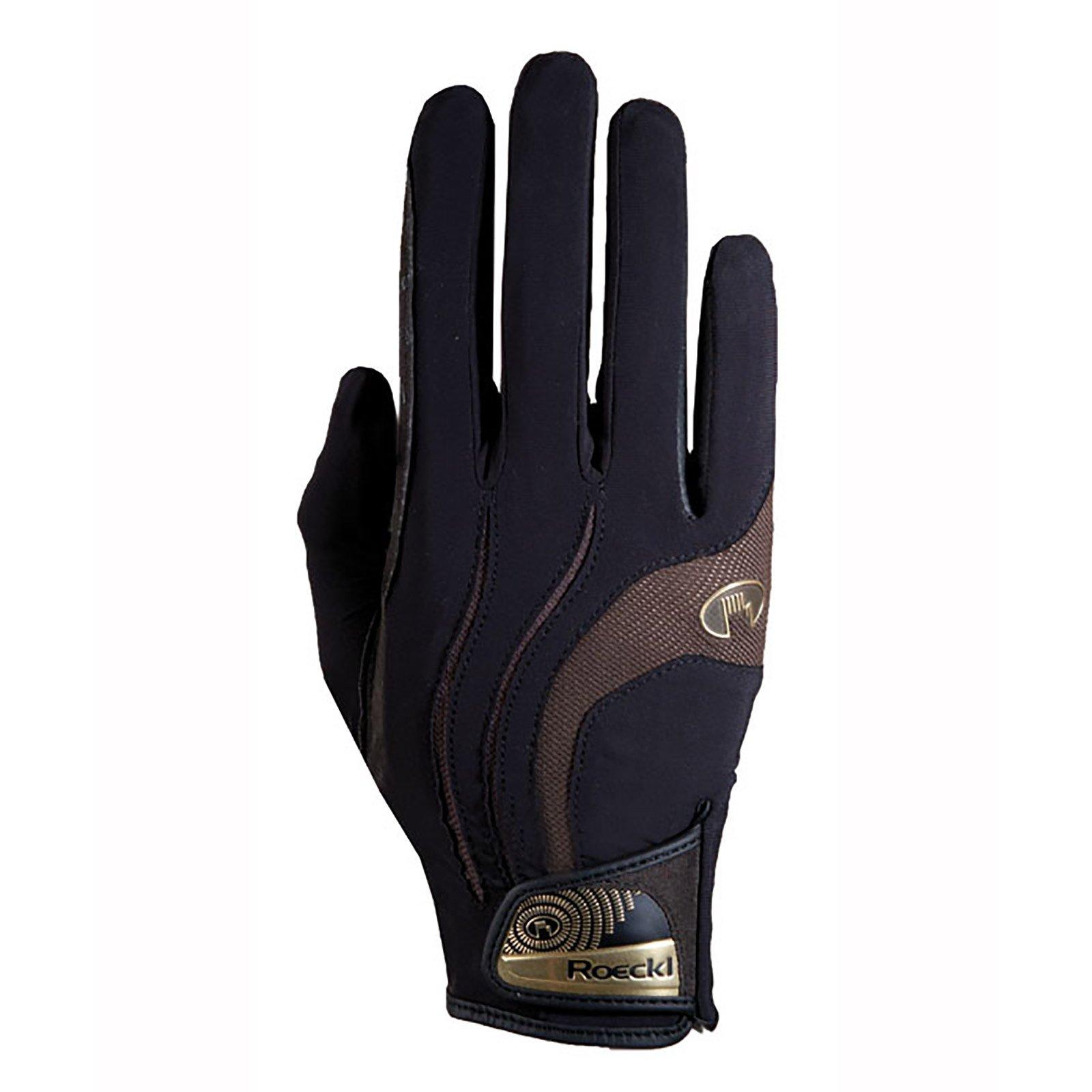 Roeckl Malia Riding Gloves Black/Mocha 8
