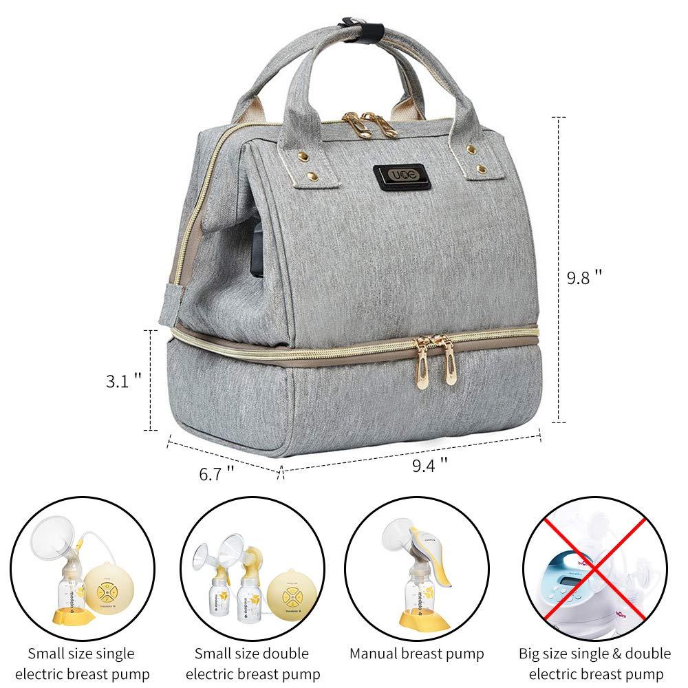 Mini sac /à dos de poche avec poches pour sac isotherme Sac portable Chargeur de batterie USB int/égr/é pour travail Maman id/éale pour le voyage comme sac /à lunch Sac de tire-lait