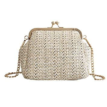 927ce8cfc4b1 Amazon.com: Wulofs Women Fashion Summer Beach Wild Chain Messenger ...