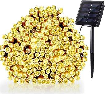 NEXVIN Guirnalda Luces Exterior Solar, 22M 200 LED Cadena de Luz ...