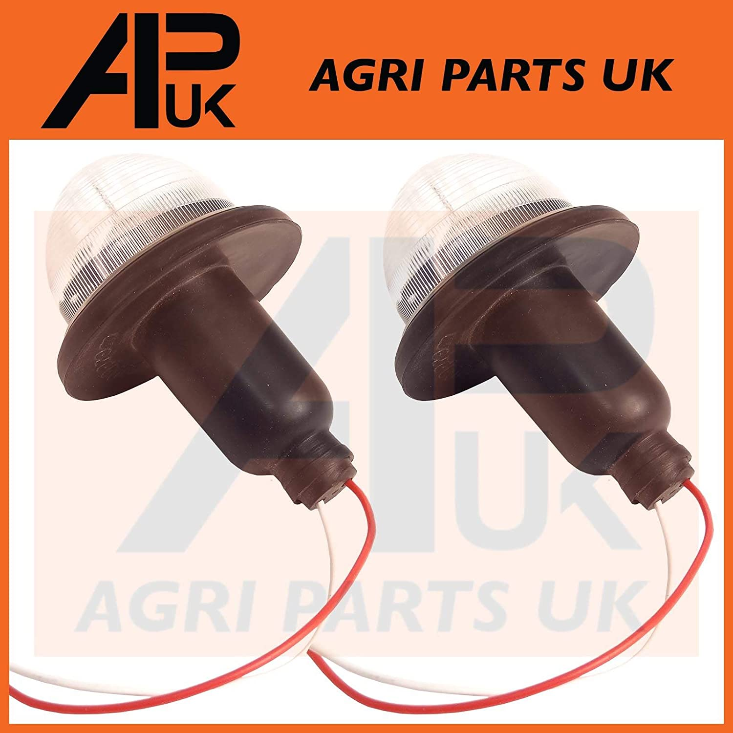 APUK PAIR Fender Side Lights Marker Lamps Compatible with Massey Ferguson 135 148 165 175 188 Tractor