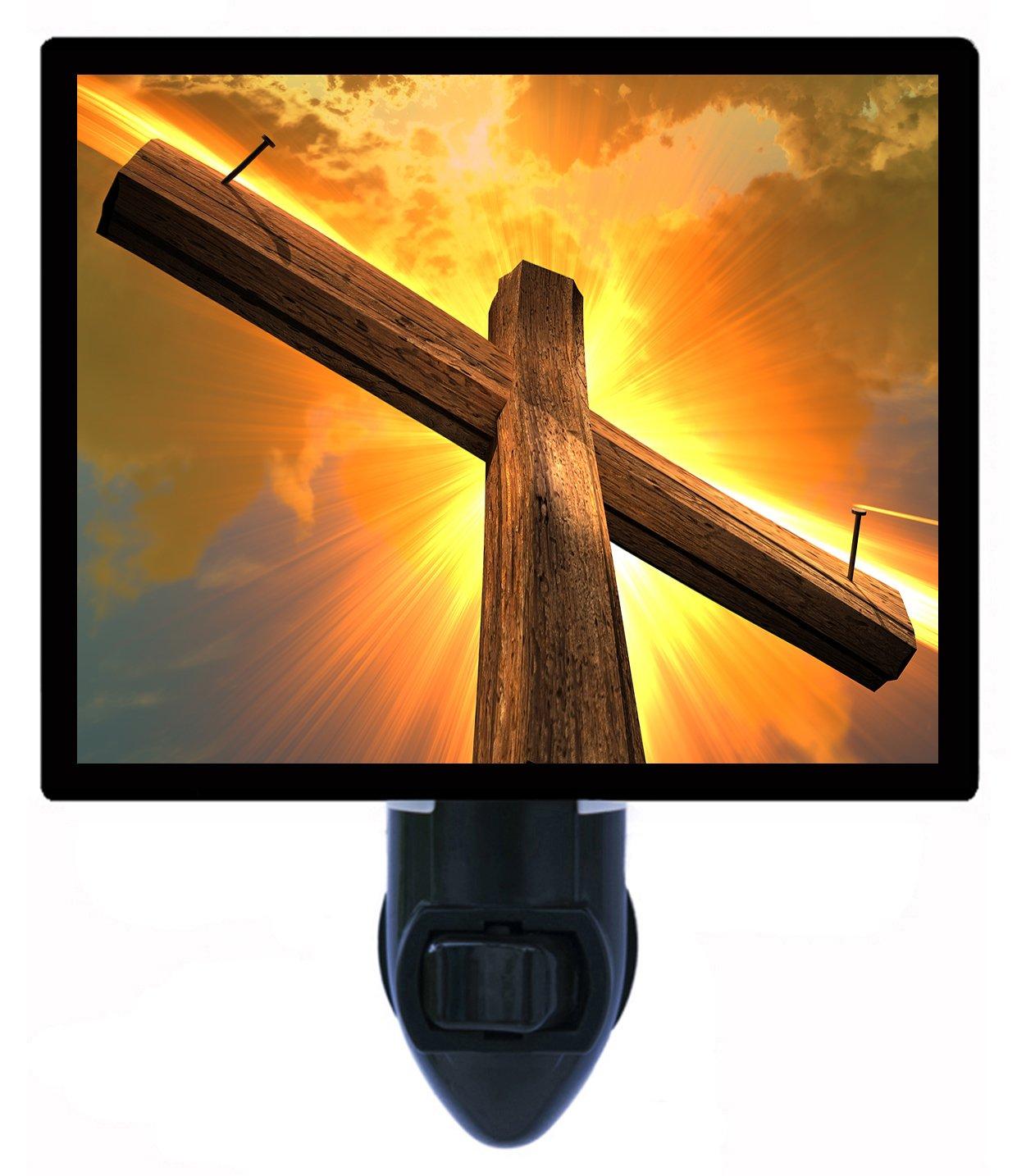 Night Light - Nails in Cross - Religious - Christian - Jesus