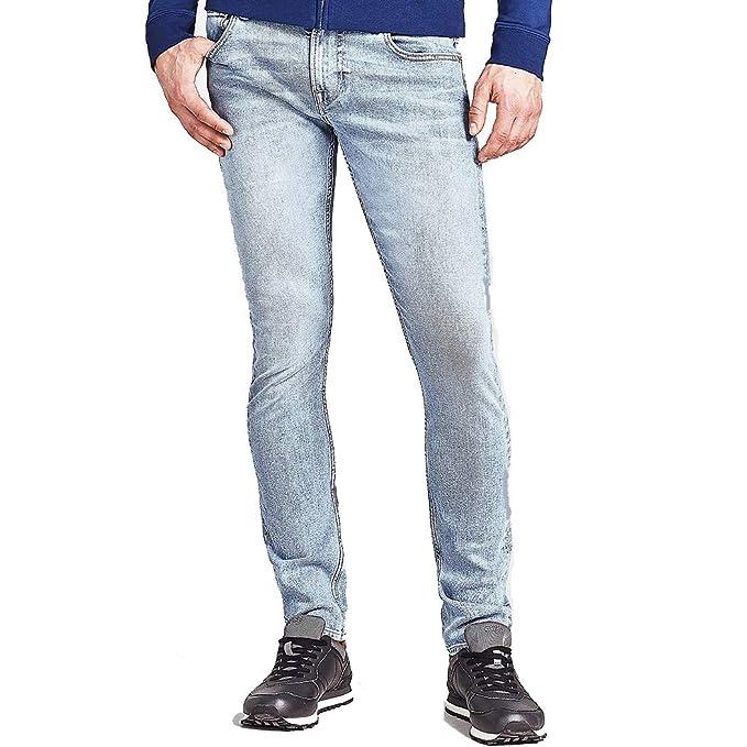 varietà larghe vendita economica codice coupon Guess Jeans Pantaloni Uomo Miami Super Skinny Chiaro Stretch ...
