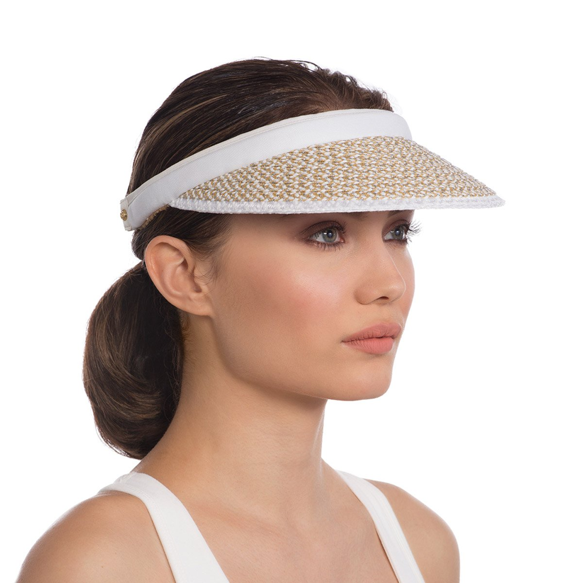 Eric Javits Luxury Fashion Designer Women's Headwear Hat - Bradfield - Frost/White by Eric Javits