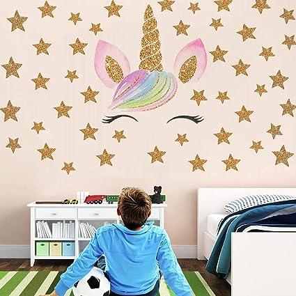 Amazon.com: Beautyonline Unicorn Wall Stickers, Fantasy Girls ...