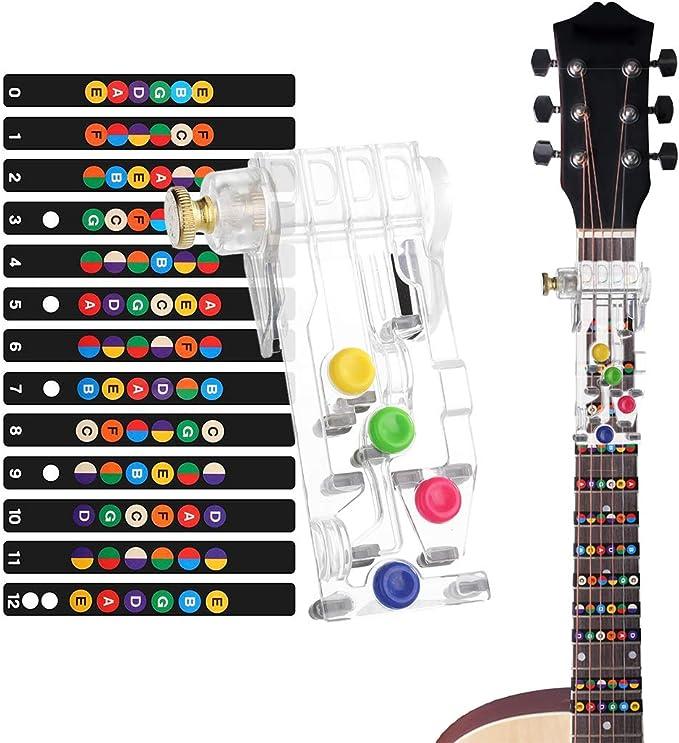 Aibada Pour guitares acoustiques et /électriques,Ukul/él/é,Banjo,Pince /à linge en alliage daluminium Facile /à utiliser dune seule main,Ressort solide sans vibration,Cinq tailles diff/érentes
