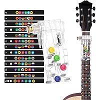 Sistema de Aprendizaje de Guitarra, Clásico Chord Buddy y 100% Vinilo Colores Guitarra Afilar Imágenes Principiantes…