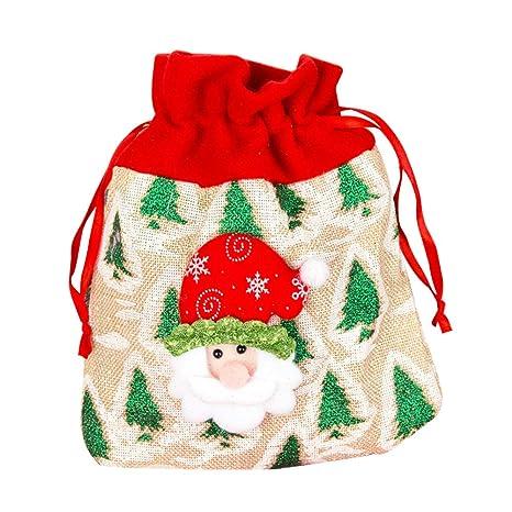 Topdo Bolsa de Regalo Navidad con Cajas de Cuerda Atado Portátil Papá Noel Gift Bag Decoración Colgante para Navidad Fiesta de Boda Bolsas de Regalo 1 ...