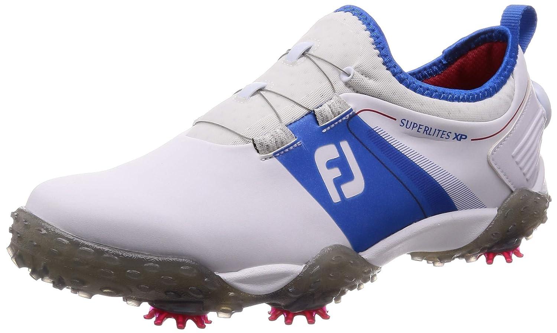 [フットジョイ] ゴルフスパイク SuperLites XP(スーパーライト エックスピー) 58068 メンズ 27.5 cm ホワイト/ブルー B07NYZ86VL