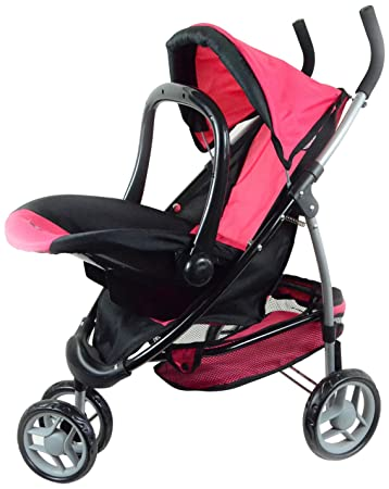 Amazon.com: 2-1 Doll Stroller with Car Seat for Ages 3 : Toys & Games