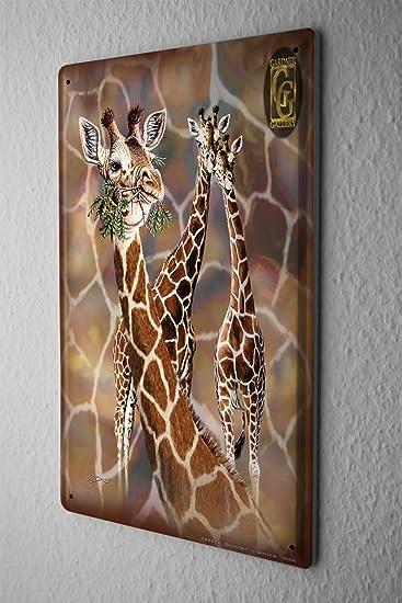 Blechschild Giraffe Zoo Wand Deko Afrika Metallschild 20X30 cm ...
