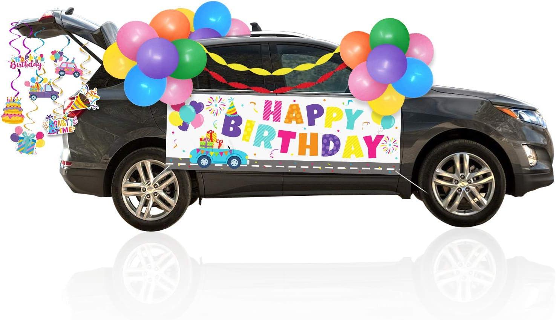 Rainbow Birthday Parade Car Decorations Kit