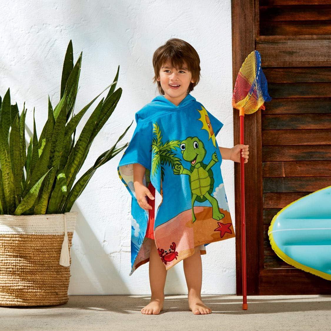 ca. B 58 x L 60 cm Crivit/® Kinder Strandponcho mit Kapuze Delfin