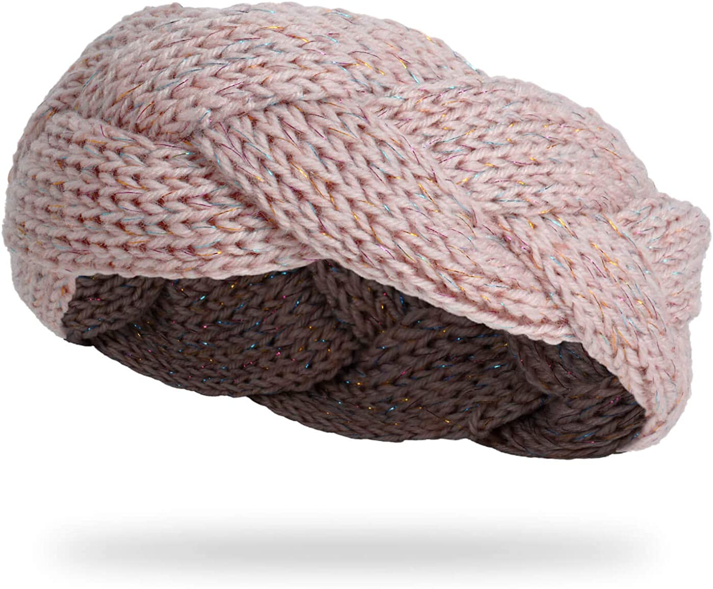 Damen Stirnband Perle Glitzer Ohrwärmer Winter Kopfband Haarband