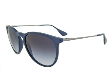 6ce3e6c39a6 Image Unavailable. Image not available for. Color  New Ray Ban Erika Rubber  RB4171 60028G Blue Grey Gradient Lens 54mm Sunglasses