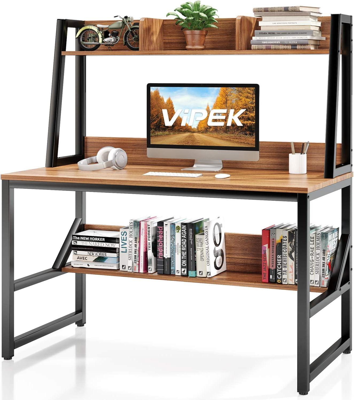 VIPEK Computer Desk with Hutch and Bookshelf, 47