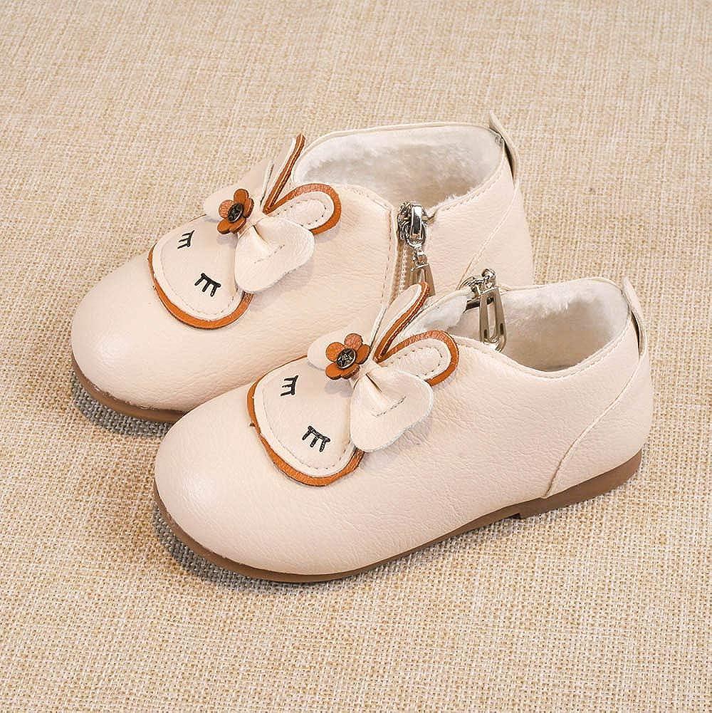 Kids Baby Infant Toddler Girls 12 Months-6T Cartoon Rabbit Winter Warm Shoes Snow Boots