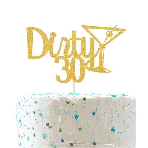Decoración para tarta de 30 años de Dirty y cristal de ...