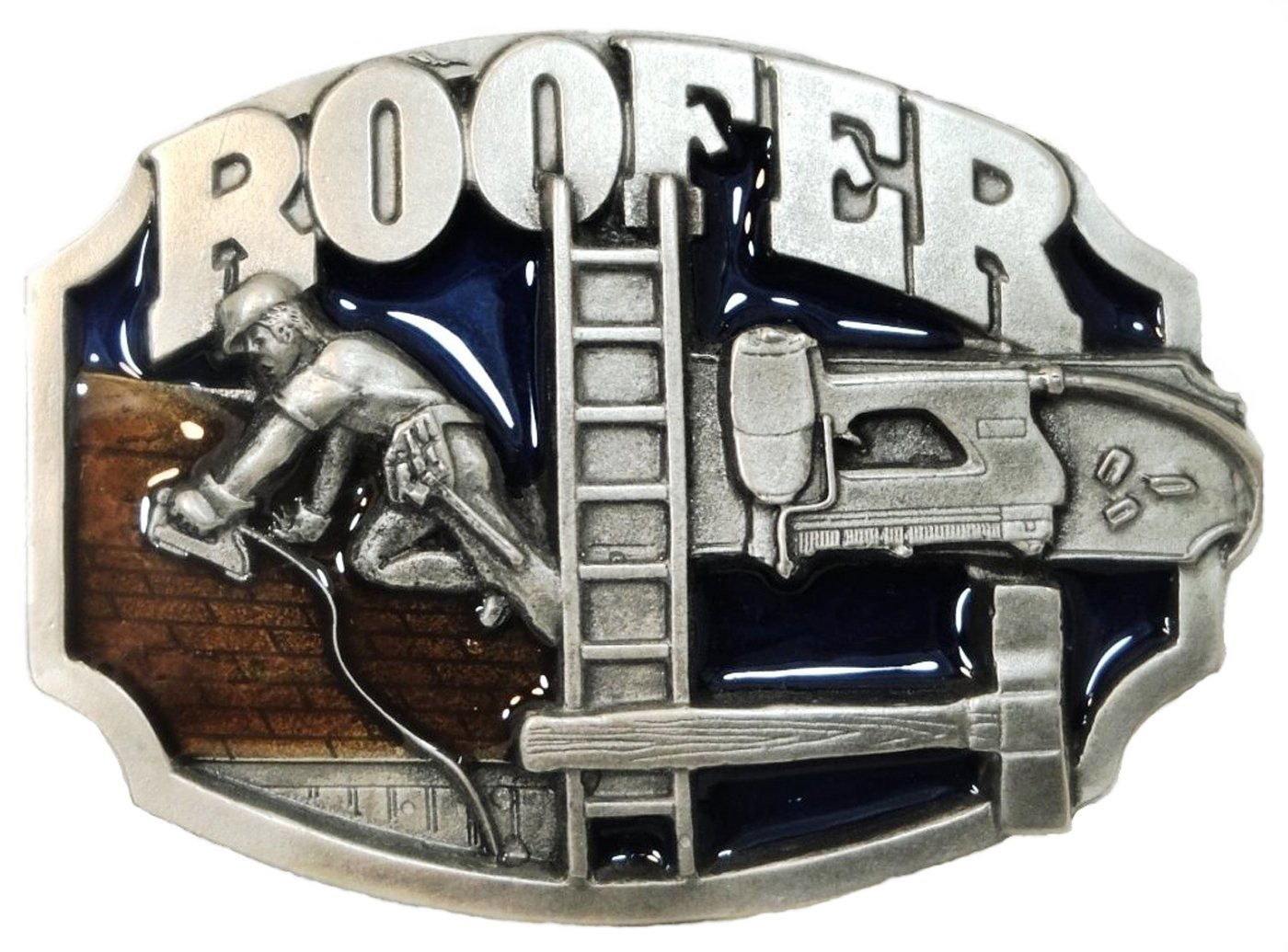 ROOFER OCCUPATION BELT BUCKLE BY SISKIYOU