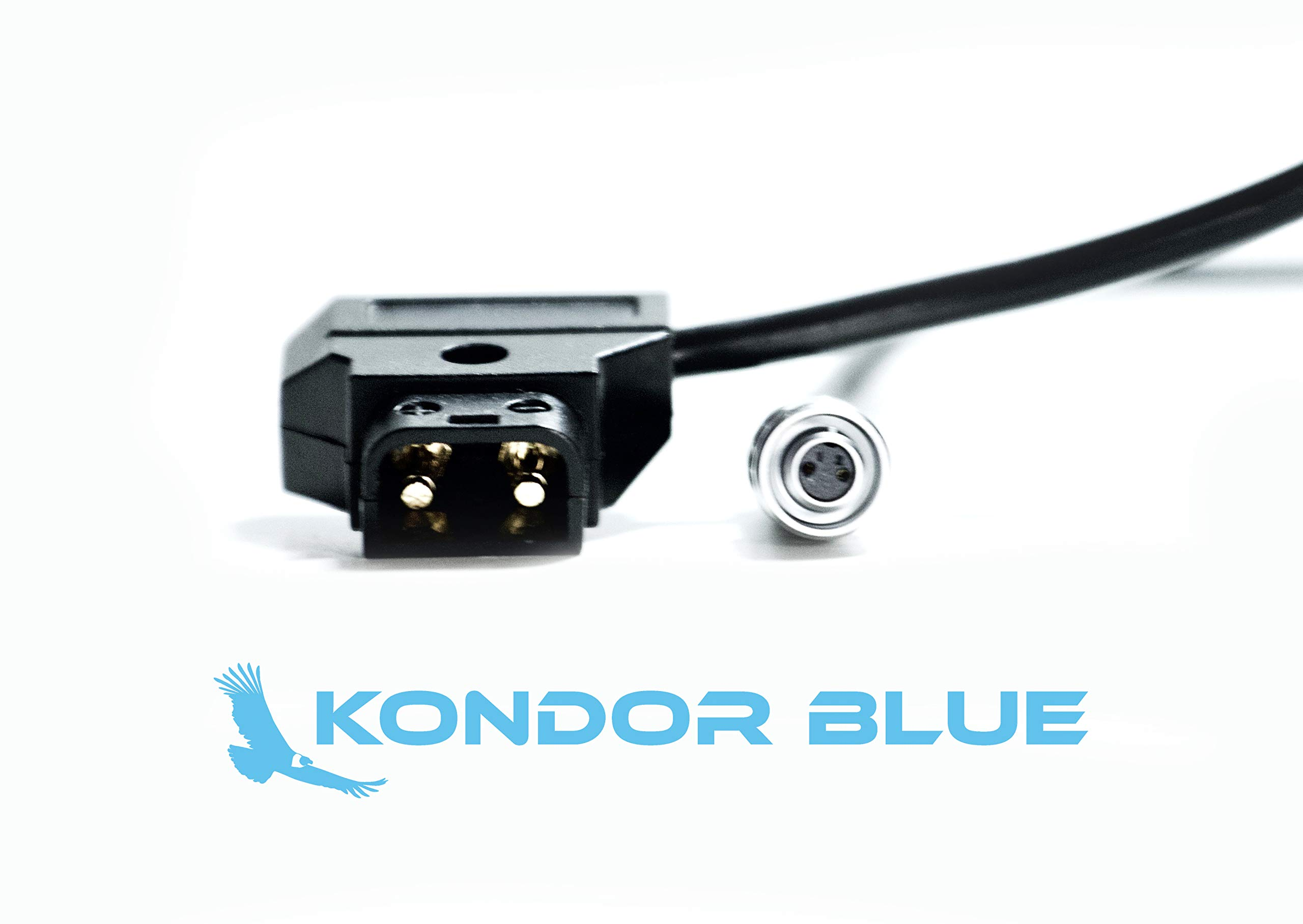 KONDOR BLUE 20'' D-Tap to BMPCC 4K Power Cable for Blackmagic Pocket Cinema Camera 4K and Gold Mount V Mount Battery P TAP Weipu