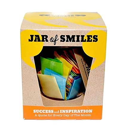 """Review Smiles by Julie Success & Inspiration in a Jar. Month of Thoughtful & Motivational Quotations in a 314ml Orcio Glass Jar 31 Multi-Colored Quotes. """"Be The Reason Someone Succeeds Today""""- Gift box."""