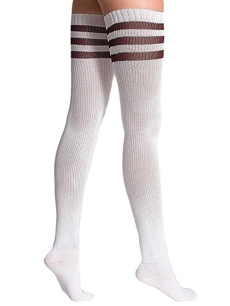American Apparel - Calcetines - Vestir - para mujer Blanco White / Maroon: Amazon.es: Ropa y accesorios