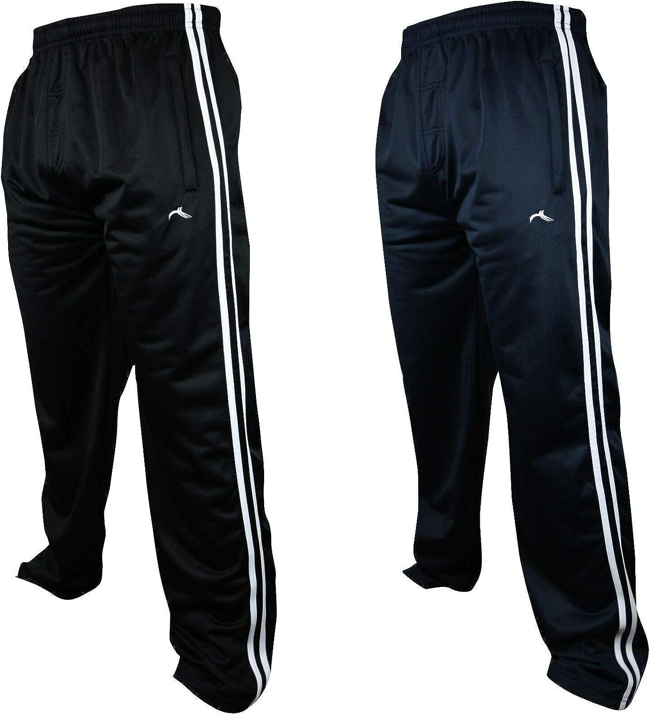 per palestra sport Pantaloni da jogging da uomo taglie forti in seta a righe fitness 2 pezzi tempo libero