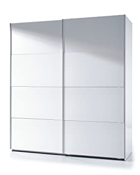 super popular 37c1a 5995c Anita White Gloss 180cm Wide 200cm Tall Extra Large Sliding 2 Door Wardrobe  Bedroom Furniture