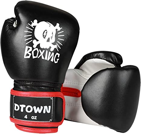 Children Kids FIRE Boxing Gloves Sparring Punching Fight Training Age 3-12 B KN
