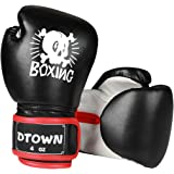 Dtown Kids Boxing Gloves 4oz 6oz Youth Boxing Gloves for Age 3 to 9 Years, Boys and Girls Training Boxing Gloves for Punching