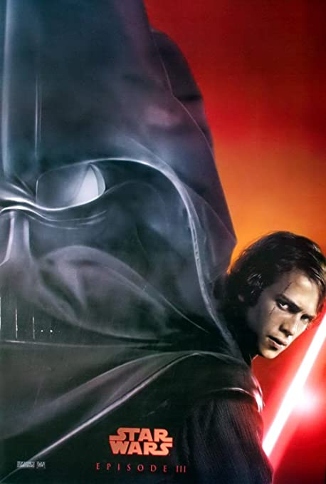 Amazon Com M 060 Star Wars Episode Iii Revenge Of The Sith 2005 Anakin Skywalker Wall Decoration Movie Poster Size 23 5 X35 Prints Posters Prints