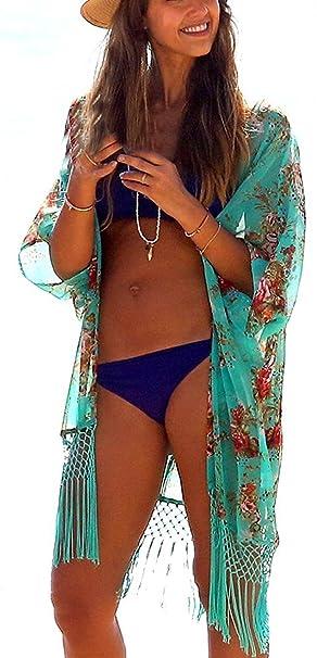 dd4a691fa Aimerfeel Beach Cover Up para Mujer Suelta Ropa de Playa Encubrimiento de  Baño Bikini Vestido para la Playa