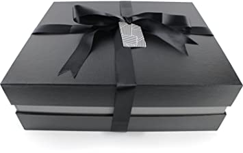 Amazoncom Manhattan Paper Company Black Large Fancy Gift Box