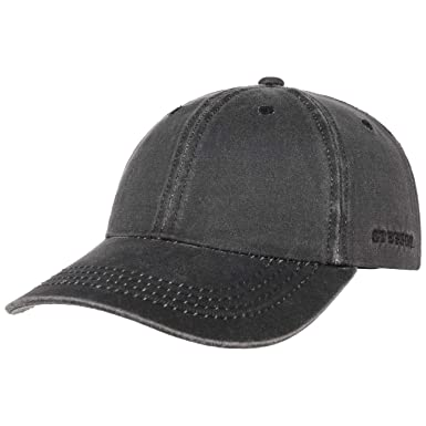 9e505c7fffcd Amazon.com  Stetson Distressed Cotton Baseball Cap  Clothing