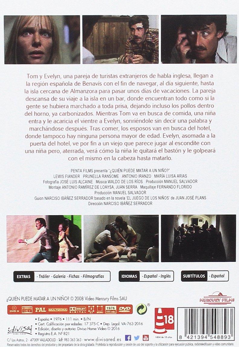 ¿Quién puede matar a un niño? [DVD]: Amazon.es: Lewis Fiander, Prunella Ransome, Antonio Iranzo, María Luisa Arias, Narciso Ibáñez Serrador: Cine y Series ...