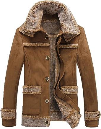 manteau cuir epais homme