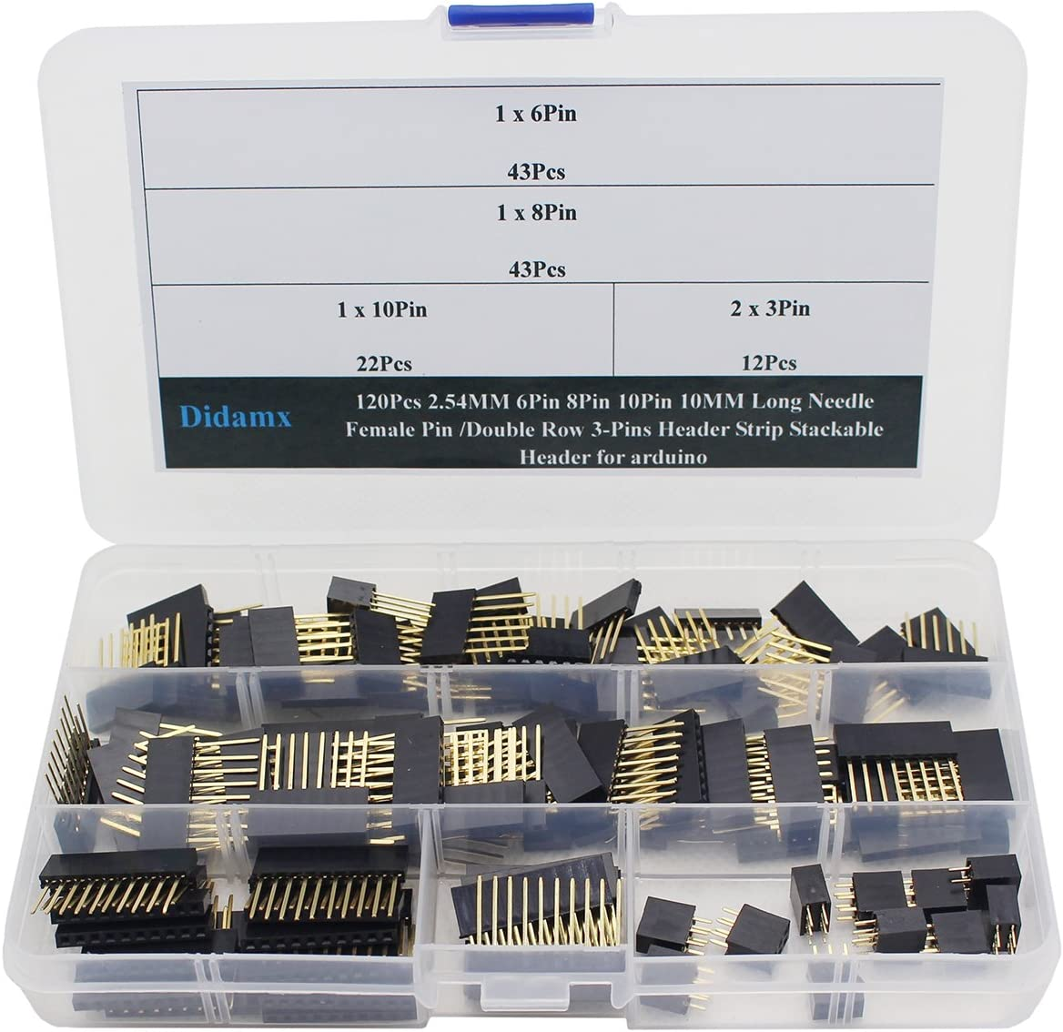 10pcs 2.54 mm Stackable Long Legs Femal Header For Arduino Shield FBES