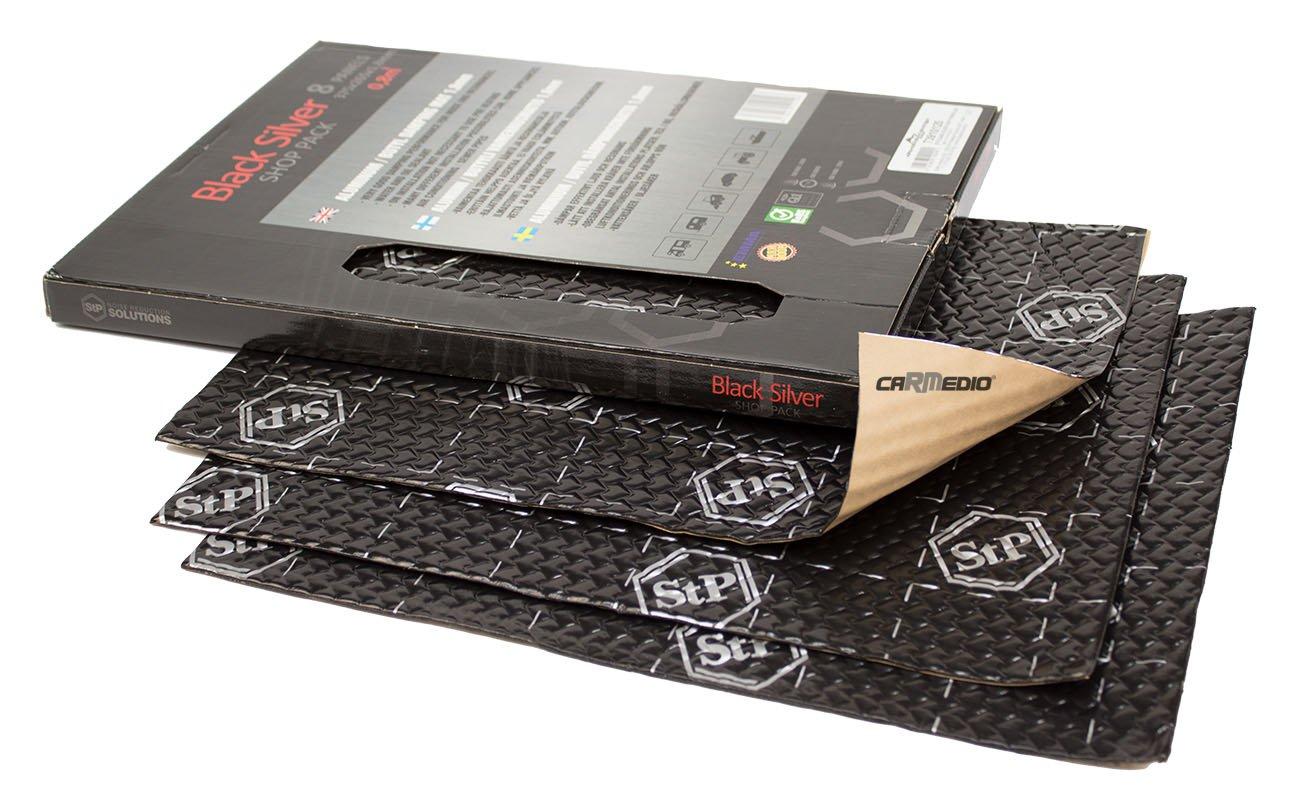 8 Panels je 375x265x1,8mm Hertz Lautsprecher Boxen 165mm Seiten Heckbereich mit Premium D/ämmung STP Black Silver Shop Pack 01-06 BMW Mini R50//R53