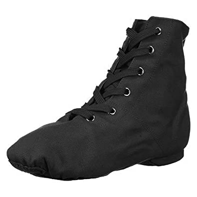 52647d0a85aa4 Amazon.com | Danzcue Womens Canvas Lace up Jazz Boot Shoes | Ballet ...