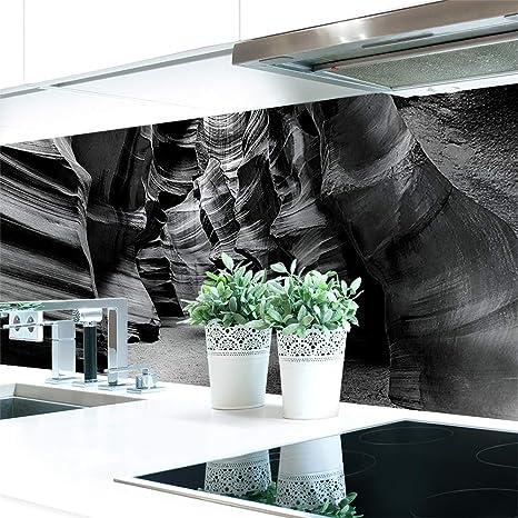 Küchenrückwand Canyon Grau Premium Hart Pvc 0 4 Mm Selbstklebend Direkt Auf Die Fliesen Größe 400 X 80 Cm Küche Haushalt