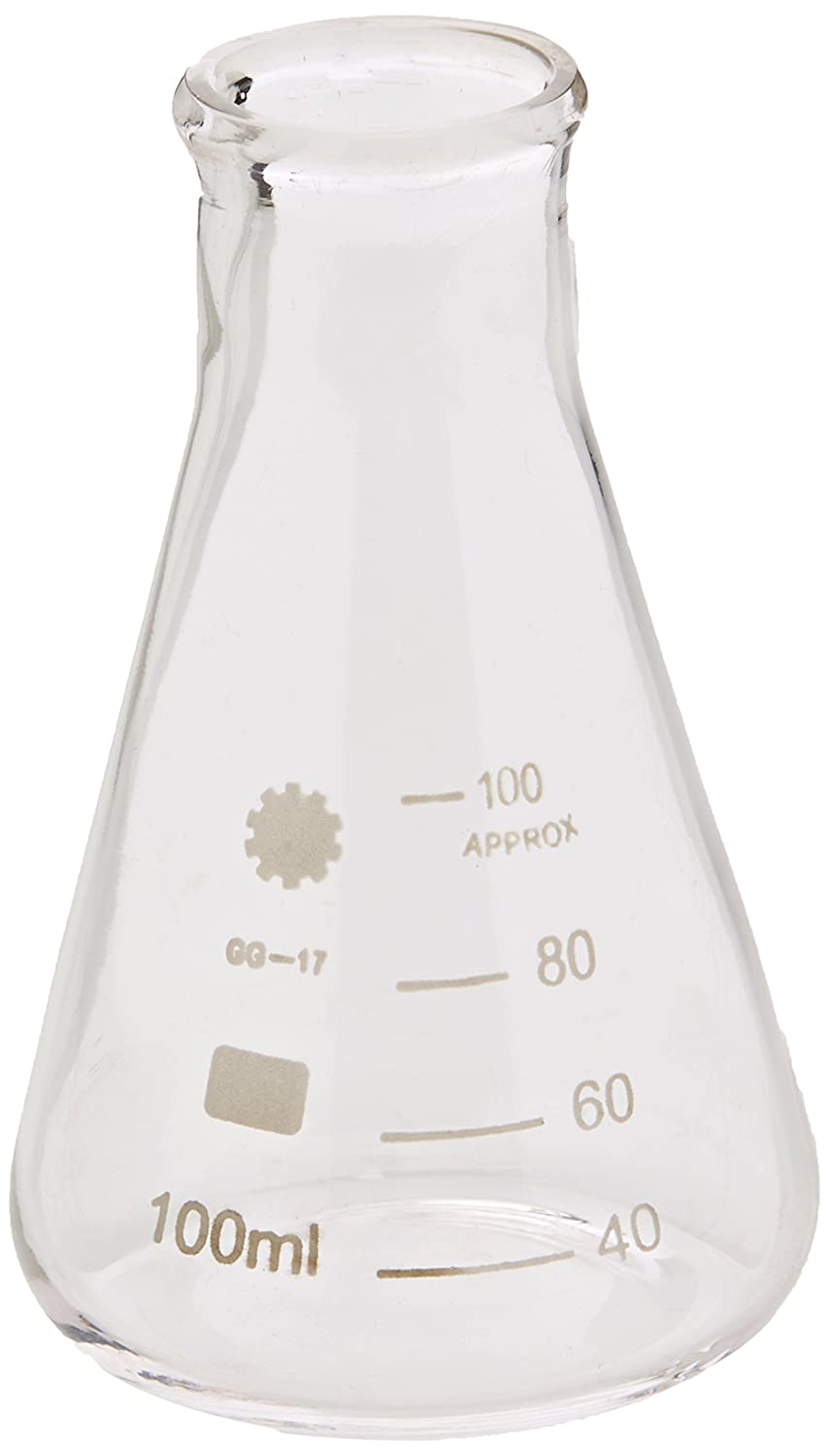 Ajax Scientific GL025-0100 Erlenmeyer Narrow Mouth Flask with Graduated and Marking Spot, 100 mL Ajax Scientific Ltd
