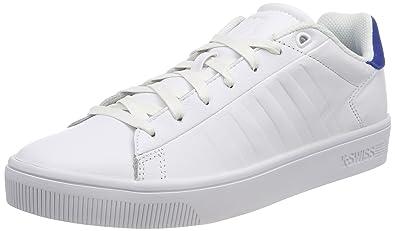 K-Swiss Clean Court CMF, Zapatillas para Hombre, Blanco (White/Classic Blue/White), 44 EU