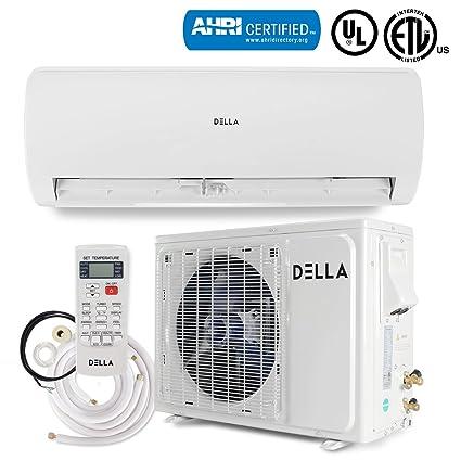 DELLA 12,000 BTU 230V Mini Split Inverter AC Ductless Wall Mounted Air  Conditioner Inverter w/Heat Pump System Full Set (17 SEER) AHRI Certified