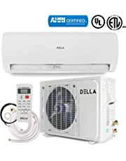 DELLA 12,000 BTU 230V Mini Split AC Ductless Wall Mounted Air Conditioner Inverter w/Heat