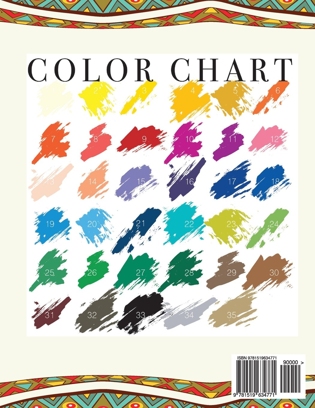 Color By Number For Adults: Under an African Sky