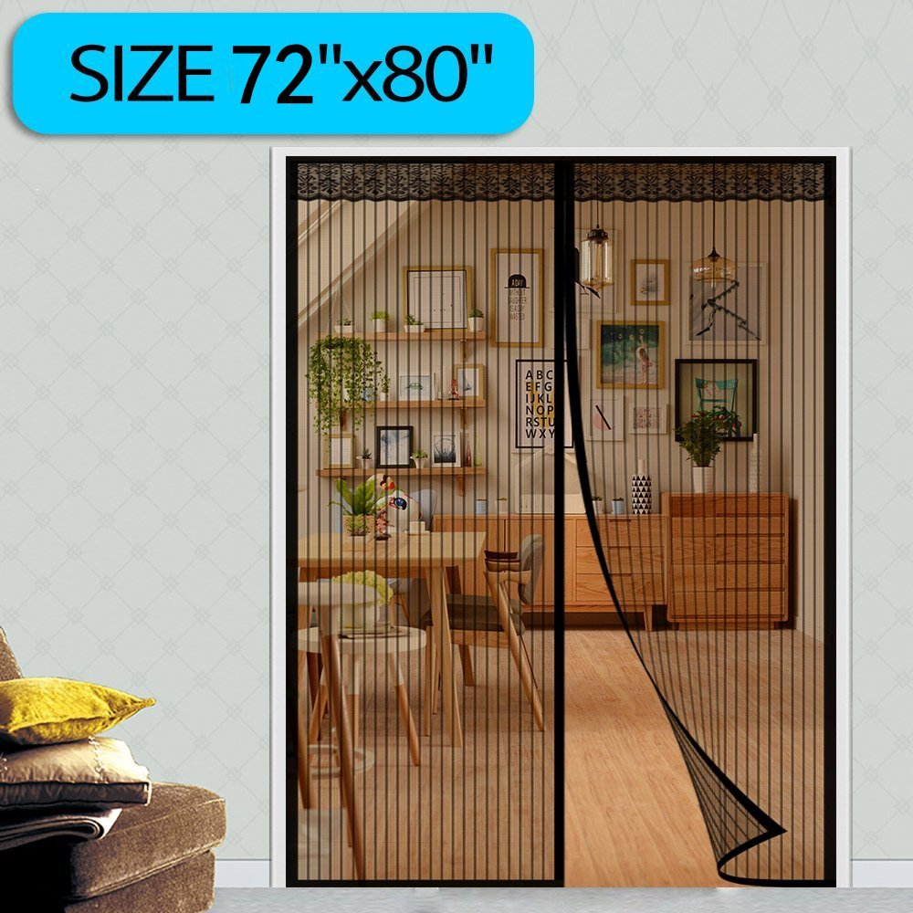 Surpass 72w X 80h Magnetic Screen Door For French Doors