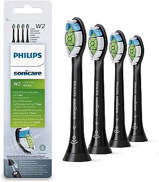 Philips HX6064/11 - Pack con 4 cabezales Optimal White para cepillos Sonicare, color negro: Amazon.es: Salud y cuidado personal