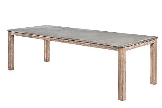 Muebles de Jardín Mesa Mesa de jardín bratis 240 x 100 cm: Amazon ...